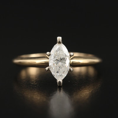 14K 0.56 CTW Diamond Solitaire Ring