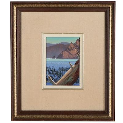 "John Revill Oil Painting ""Water Log,"" circa 1981"