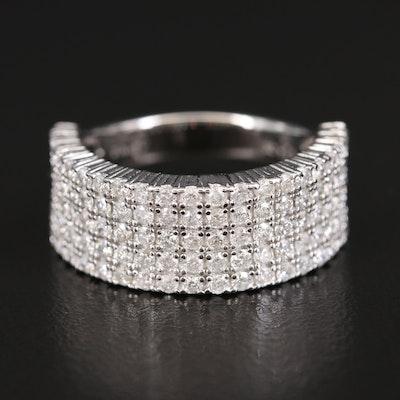 Sterling 1.44 CTW Multi Row Diamond Ring