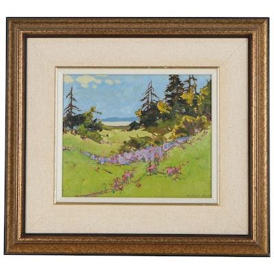 "Robert Genn Oil Painting ""Spring Saunch,"" circa 1982"