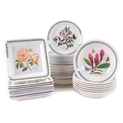 "Portmeirion ""Botanic Garden"" Porcelain Dinner Plates and Bowl"
