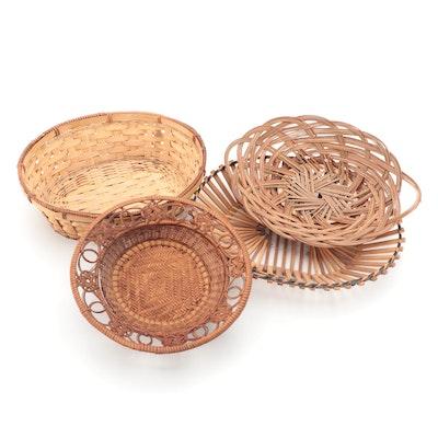 Rattan, Bamboo and Grass Handmade Decorative Baskets