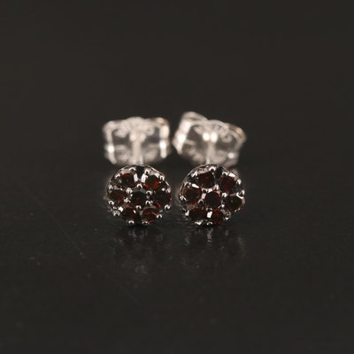 14K Red Diamond Stud Earrings