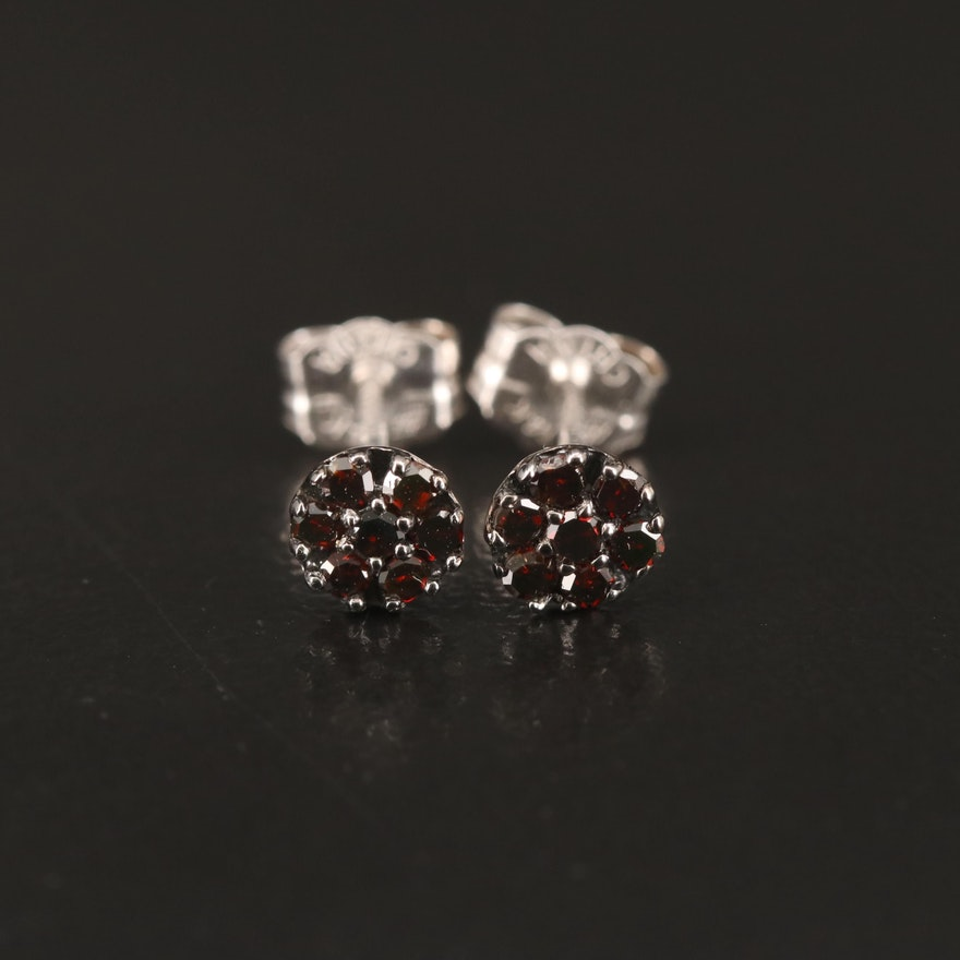 14K Red Diamond Stud Earrings