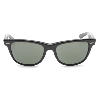 Bausch & Lomb Ray-Ban Black Wayfarer II Sunglasses with Case