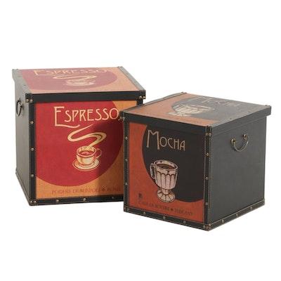 Mocha and Espresso Themed Decorative Boxes