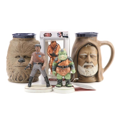 "Sigma ""Return of the Jedi"" Figurines, Rumph Pottery Mugs and Other Ornament"