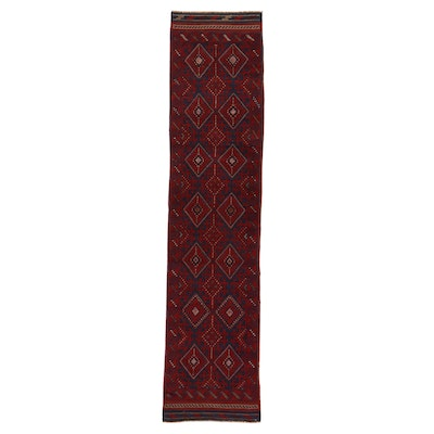 2' x 8'5 Hand-Knotted Afghan Turkmen Runner, 2000s