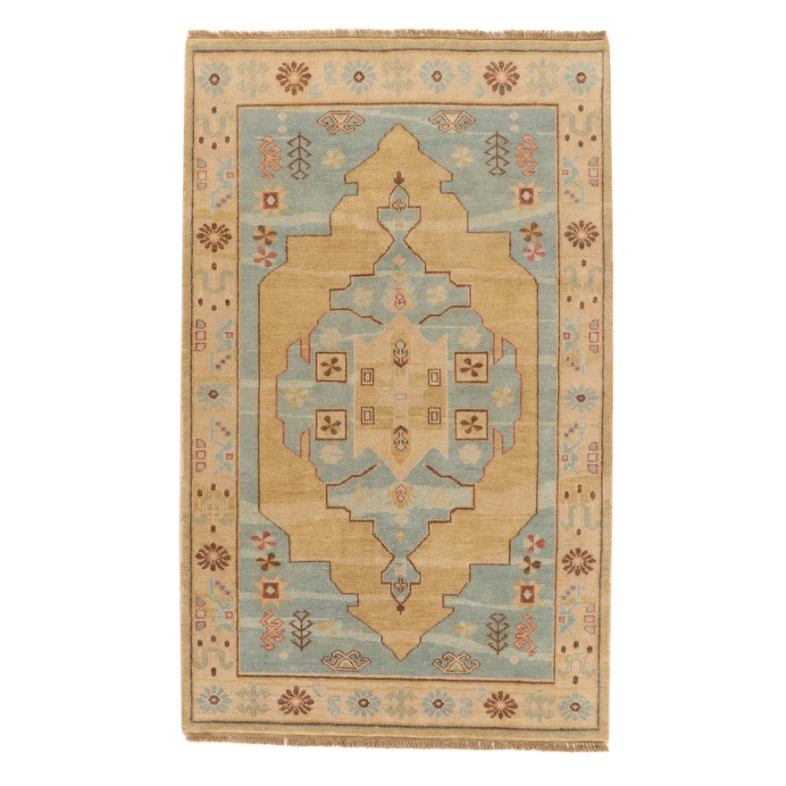 5' x 8'5 Hand-Knotted Indo-Persian Bakhshayesh Wool Rug, 2010s