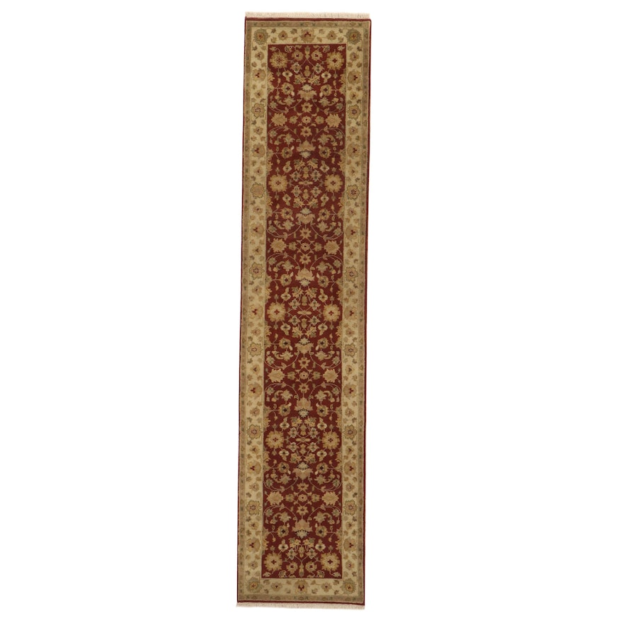 2'6 x 12'2 Hand-Knotted Indo-Persian Tabriz Runner, 2010s