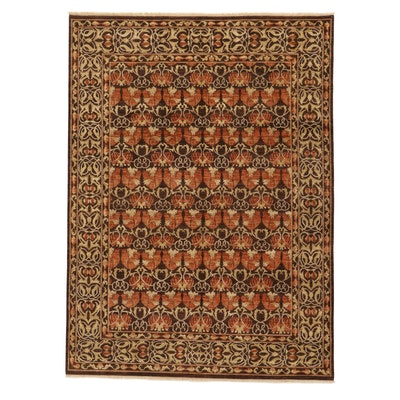 8'5 x 11'8 Afghan Persian Tabriz Wool Area Rug, 2010's