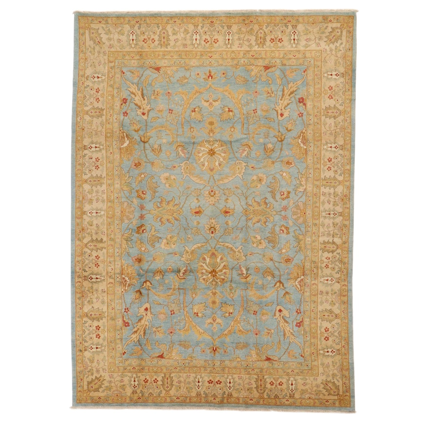 8'6 x 12'3 Hand-Knotted Pakistani Persian Tabriz Room Sized Rug, 2010s