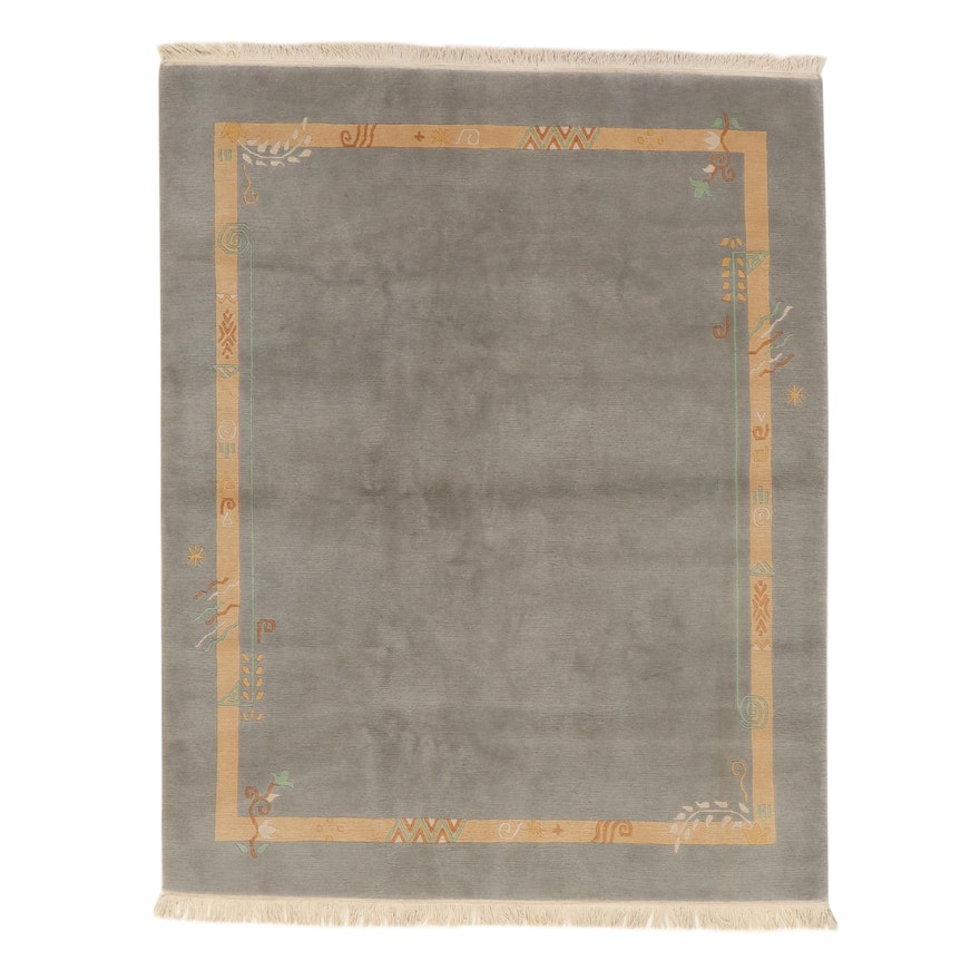 6'7 x 8'7 Hand-Knotted Indo-Tibetan Rug, 2000s