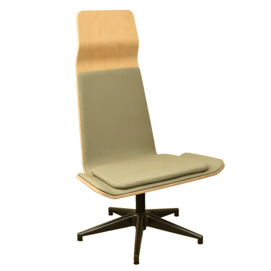 """Grand Rapids Chair Company """"Bodie"""" Modernist Swivel Lounge Chair"""