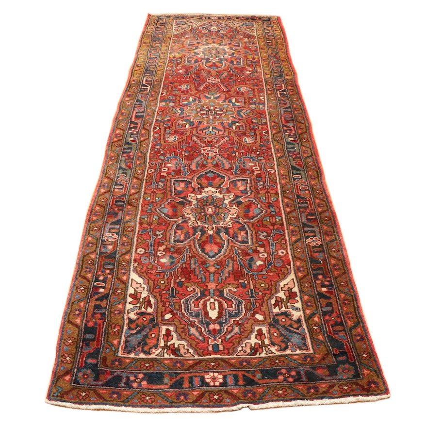 3'6 x 12' Hand-Knotted Persian Ahar Wool Long Rug