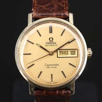 1975 Omega Speedmaster DeVille 14K Gold Filled Automatic Wristwatch