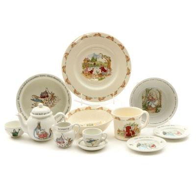 "Royal Doulton ""Bunnykins"" and Wedgwood ""Peter Rabbit"" Children's Tableware"