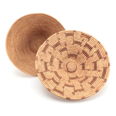 Botswana and Other African Hand-Woven Basketry Bowls