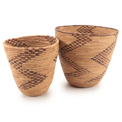 Ugandan Hand-Woven Natural Fiber Baskets, East Africa