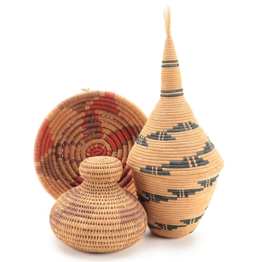 Tutsi Style and Other African Style Hand-Woven Basketry