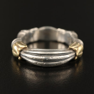 """Caviar by Lagos """"Arcardian"""" Sterling Ring with 18K Accents"""