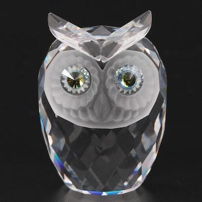 "Swarovski ""Owl"" Crystal Figurine, Late 20th Century"