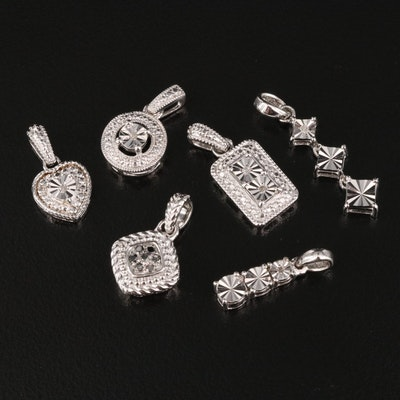 Sterling Silver Diamond Pendants