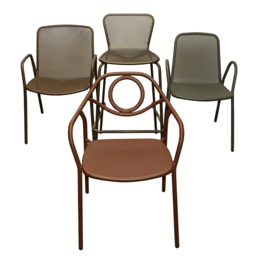 Restaurant Metal Dining Chairs and Barstool Including Emu