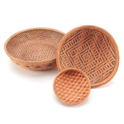 Polychromatic Woven Baskets