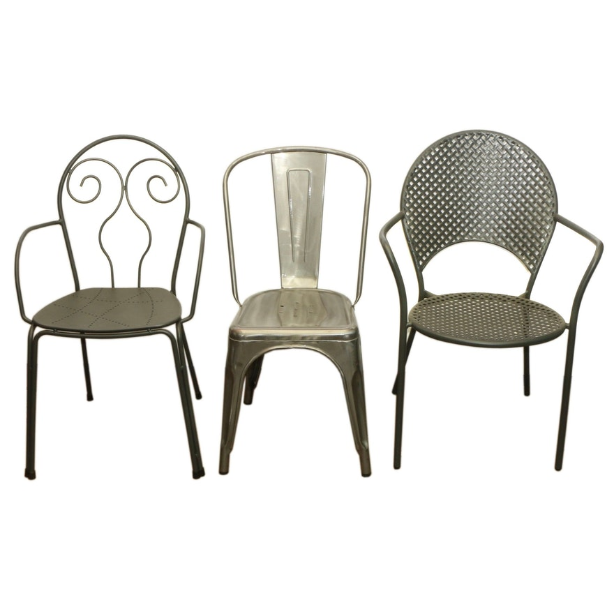 Aluminum and Metal Restaurant Dining Chairs Including Emu