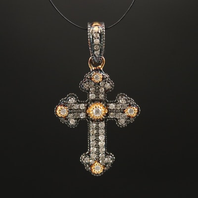 Sterling Diamond Cross Pendant