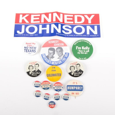 Kennedy, Johnson, Nixon, and Other Campaign Pinbacks