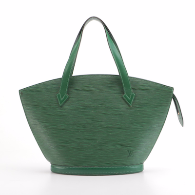 Louis Vuitton Saint Jacques PM Bag in Borneo Green Epi and Smooth Leather