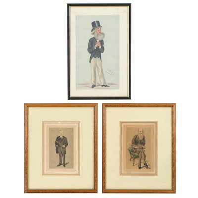 Lithograph and Halftones  Caricature Illustraions for Vanity Fair