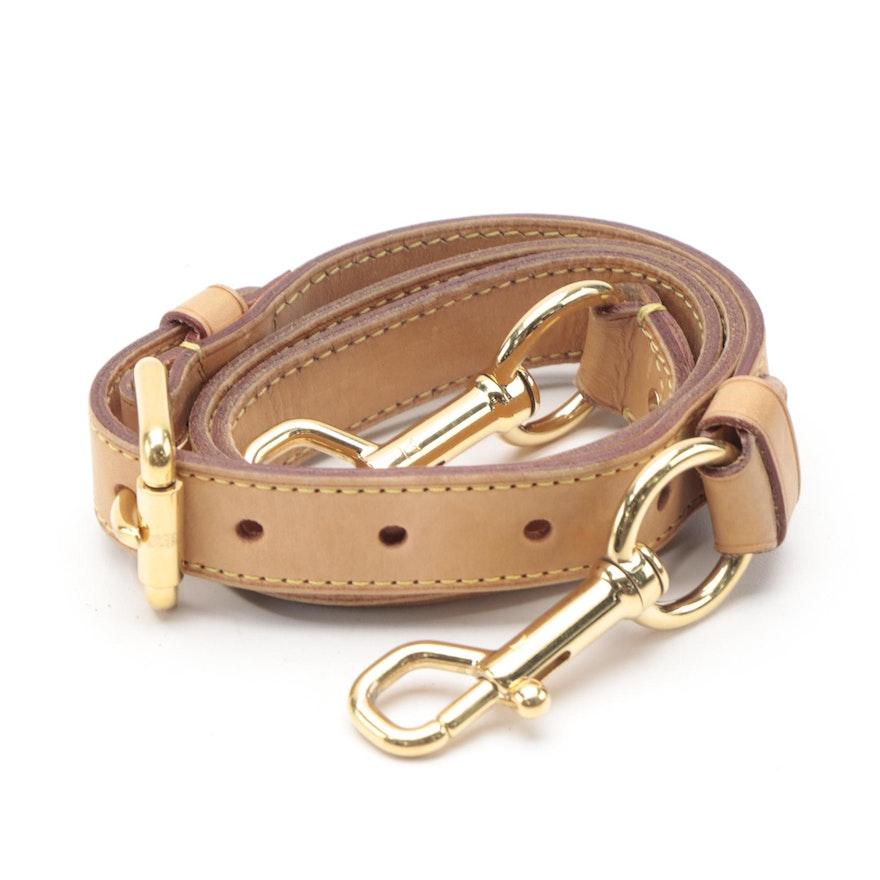 Louis Vuitton Shoulder Strap in Vachetta Leather