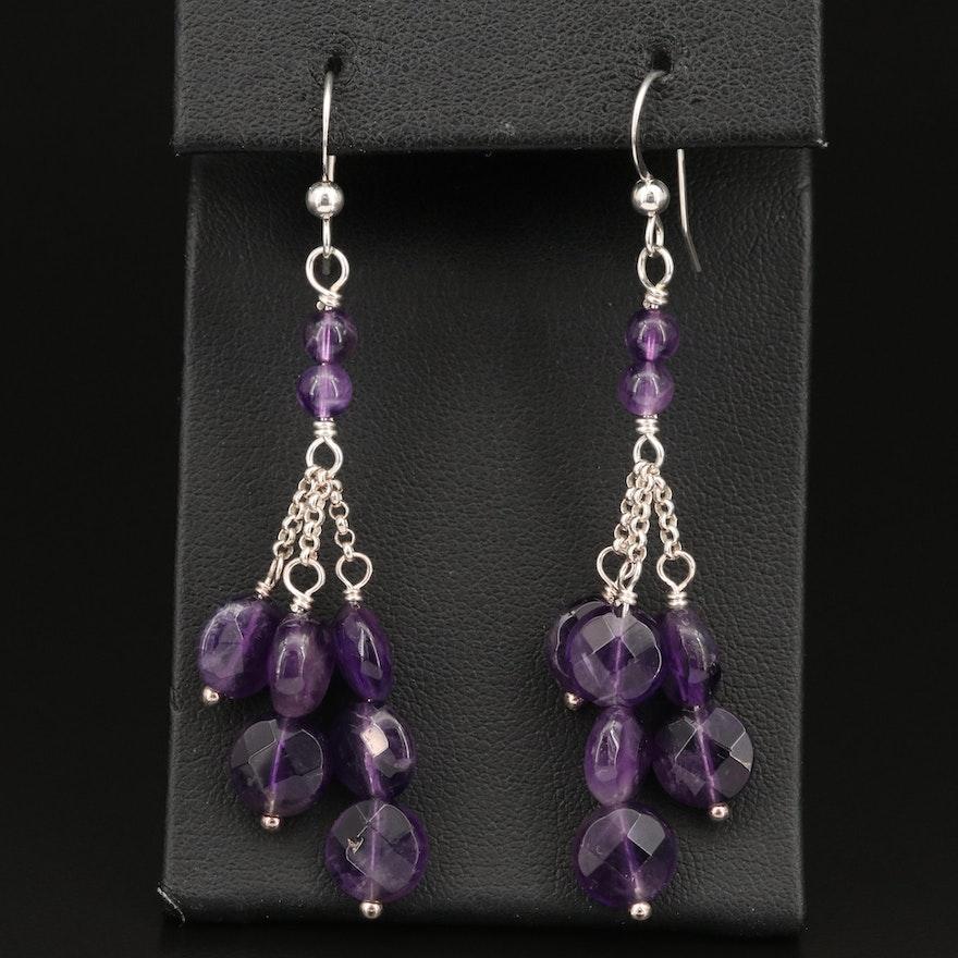 Desert Rose Trading Sterling Silver Amethyst Earrings