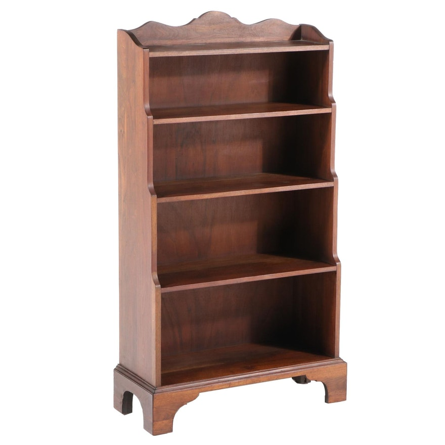 Davis Cabinet Company Federal Style Walnut Five-Tier Graduated Bookcase