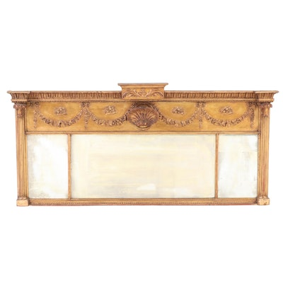 Regency Giltwood Mantel Mirror Early 19th Century