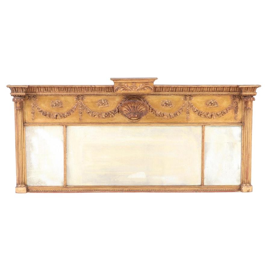 Regency Giltwood Mantel Mirror Early 19th Century