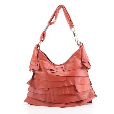 Yves Saint Laurent St. Tropez Small Hobo Bag in Burnt Orange Calfskin Leather