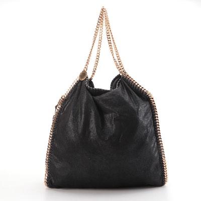 Stella McCartney Falabella Black Shaggy Deer Shoulder Bag