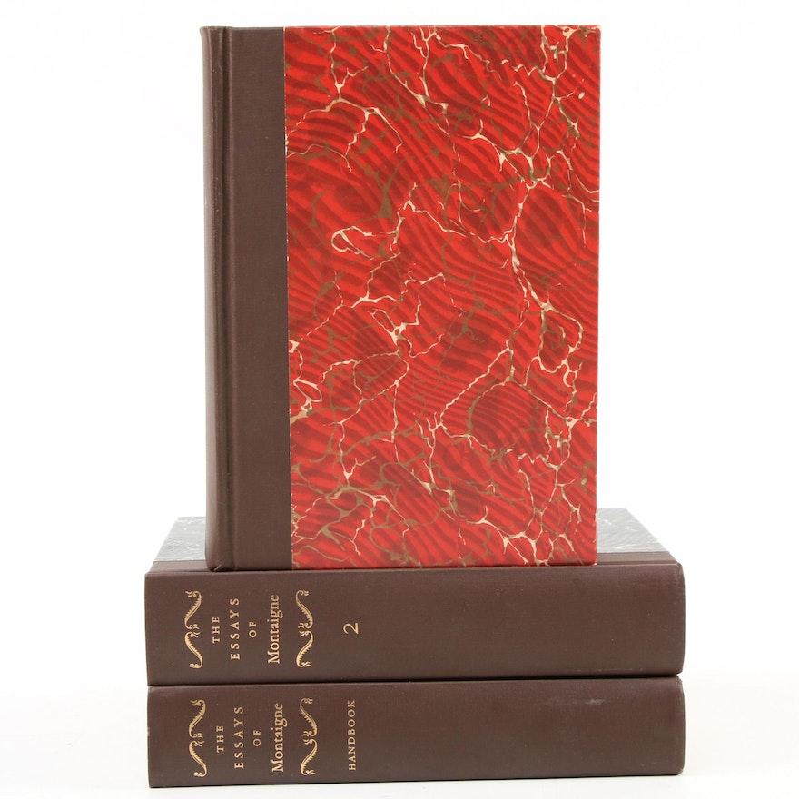 """The Essays of Michel de Montaigne"" Three-Volume Set, 1946"