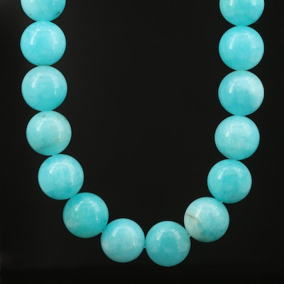 Michael Dawkins Sterling Amazonite Beaded Necklace