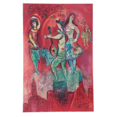 "Offset Lithograph Poster after Marc Chagall ""Carmen"""
