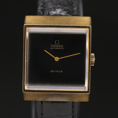 1975 Omega DeVille Gold Plated Automatic Wristwatch