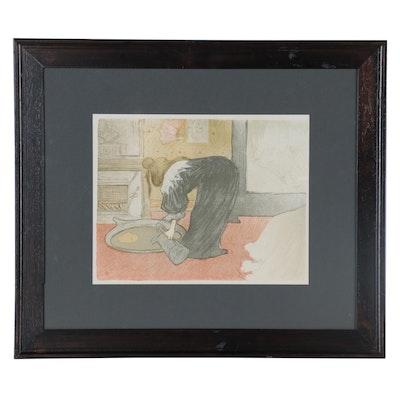 """Color Lithograph after Henri de Toulouse-Lautrec """"Femme au Tub"""""""