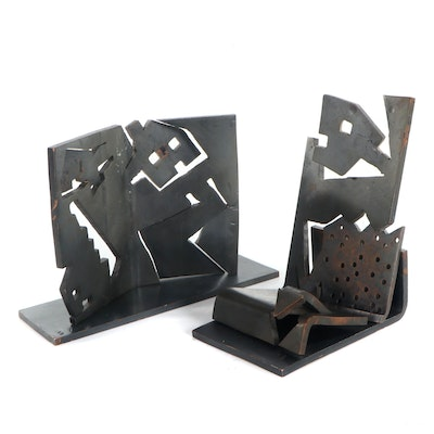Stuart Fink Abstract Metal Sculpture, Late 20th Century