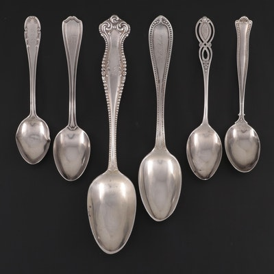 "Towle ""Canterbury"" Tablespoon and Other Sterling Silver Spoons"