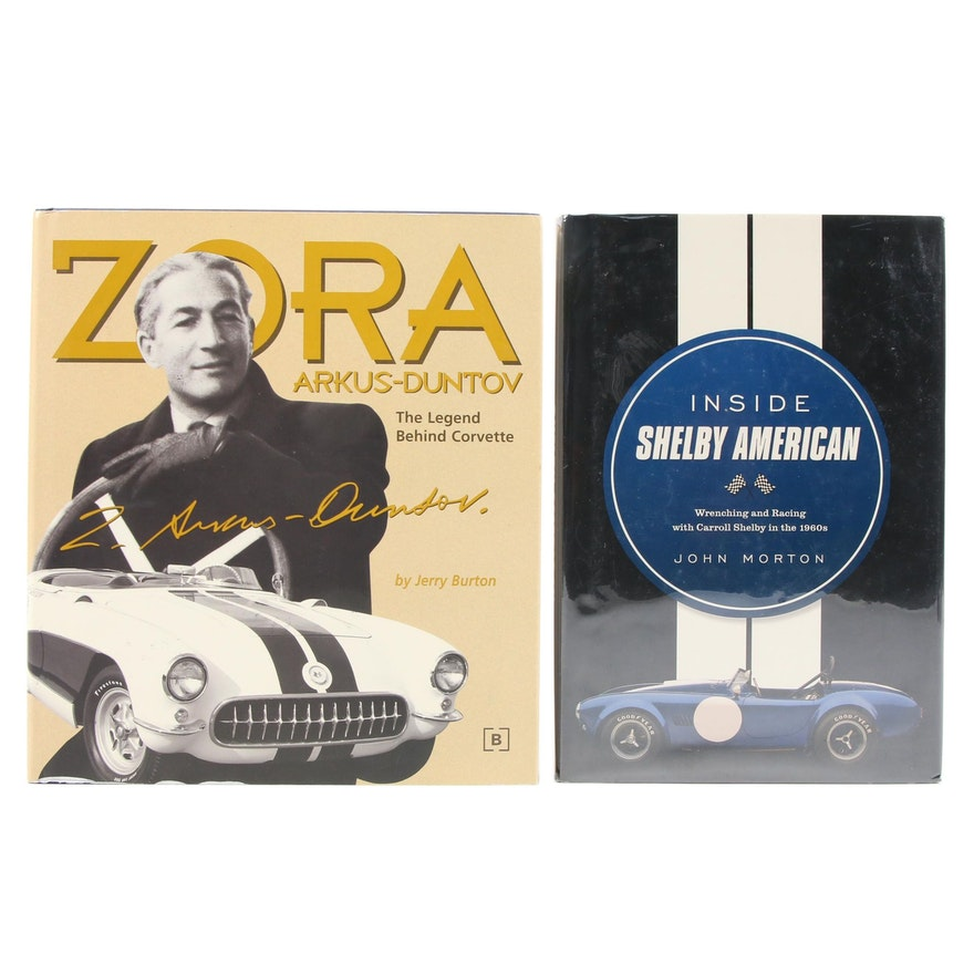 """First Edition """"Inside Shelby American"""" and """"Zora Arkus-Duntov"""""""