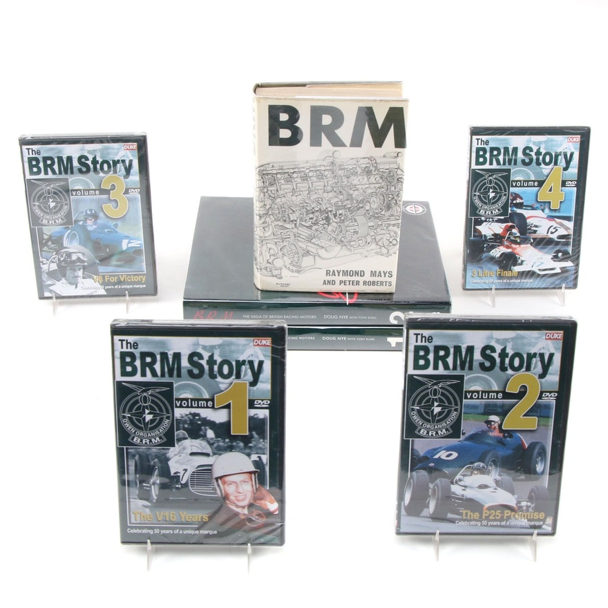 """B.R.M."" Vol. I–II by Doug Nye with British Racing Motors Documentary DVD Series"
